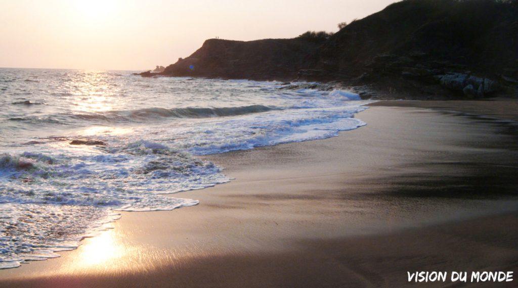Plage sur la côte atlantique au Mexique