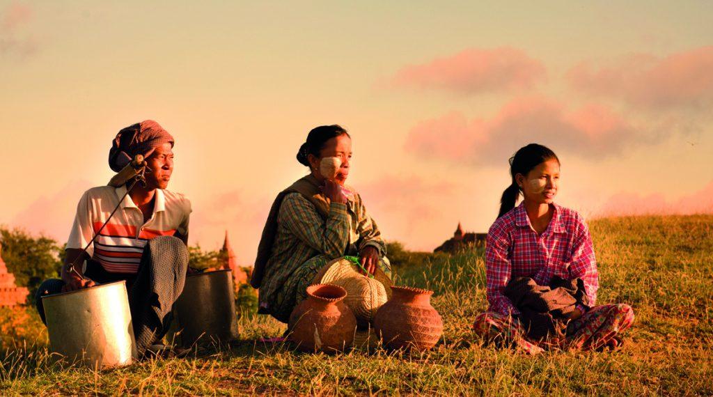 Les joues dorées des femmes birmanes