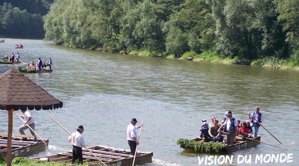Promenade sur la rivière Dunajec, sud Pologne